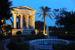 Neo-classical temple. In a park Royalty Free Stock Photos