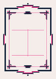 Neo Deco Frame and Design Template Royalty Free Stock Image