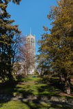 Neo-gothic cathedral with park in Nelson Stock Photography