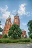 Neo-gothic catholic church in Vilkija Stock Image