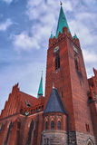 The neo-Gothic church with belfry Royalty Free Stock Photos