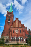 The neo-Gothic church with belfry Stock Image