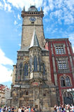 Neo-Gothic church at the Old Town Square in Prague Royalty Free Stock Image