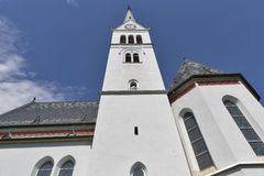 Neo Gothic Church of Saint Martin at Bled lake, Slovenia Stock Image