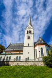 Neo Gothic Church of Saint Martin at Lake Bled Royalty Free Stock Photography