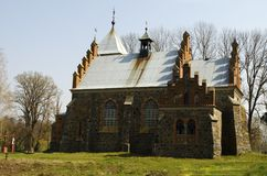 Old church in the gothic style Stock Photo