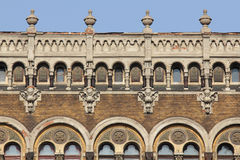 Neo-Gothic facade of a tenement house Royalty Free Stock Photos