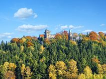 Neo gothic Lesna Skala kasztel w Szczytna obraz royalty free