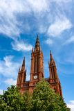The neo-gothic Marktkirche in Wiesbaden.  Royalty Free Stock Images