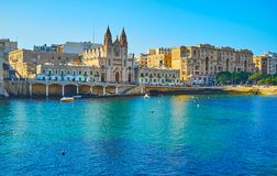 Church of Our Lady of Mount Carmel, St Julian`s, Malta royalty free stock photos