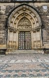 Neo-Gothic portal,Church Peter&Paul Prague Stock Photos
