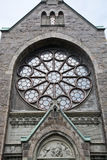 Neo-gothic rosary window Stock Image