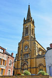 Neo-gothic Saint-Georges church in Fumay, France Stock Photo