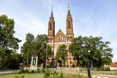 Neo-Gothic style Church in Sadowne Stock Image