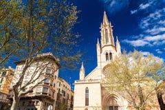 Neo-Gothic styled Santa Eulalia church Stock Photo