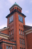 Neo-Gothic tower red-brick building Stock Image