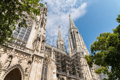 Neo-Gothic Votive Church (Votivkirche) In Vienna Stock Images