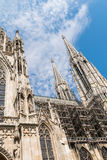 Neo-Gothic Votive Church (Votivkirche) In Vienna Stock Photography