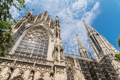 Neo-Gothic Votive Church (Votivkirche) In Vienna Royalty Free Stock Photography