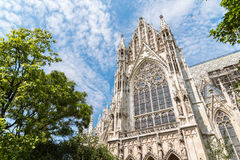 Neo-Gothic Votive Church (Votivkirche) In Vienna Royalty Free Stock Photo
