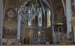 Neo Gotische Kerk van het binnenland van Heilige Martin in Afgetapt Royalty-vrije Stock Afbeelding