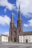 Neo-gotiskt helgon Joseph Church, kullefyrkant, Tilburg, Nederländerna royaltyfri foto