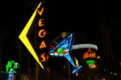 Neo lights. In downtown Las Vegas Royalty Free Stock Photo
