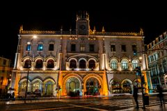 Rossio railway station in Lisbon Royalty Free Stock Image