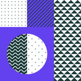 Neo Memphis patches stickers. Festive Background in Neo Memphis Style Colorful Decorative Wallpaper with Simple Editable Bold Block Bright Color positive digital Royalty Free Stock Images