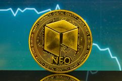 Neo is a modern way of exchange and this crypto currency. Is a convenient means of payment in the financial royalty free stock photos