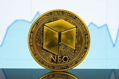Neo is a modern way of exchange and this crypto currency. Is a convenient means of payment in the financial royalty free stock photography