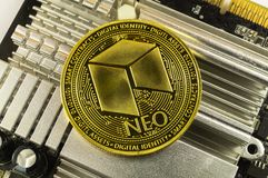 Neo is a modern way of exchange and this crypto currency. Is a convenient means of payment in the financial and web markets stock images