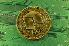 Neo is a modern way of exchange and this crypto currency. Is a convenient means of payment in the financial and web markets royalty free stock photography