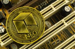 Neo is a modern way of exchange and this crypto currency. Is a convenient means of payment in the financial and web markets stock photo