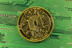 Neo is a modern way of exchange and this crypto currency. Is a convenient means of payment in the financial and web markets royalty free stock photo