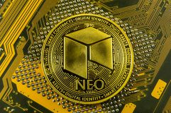 Neo is a modern way of exchange and this crypto currency. Is a convenient means of payment in the financial and web markets stock image
