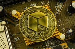 Neo is a modern way of exchange and this crypto currency. Is a convenient means of payment in the financial and web markets stock photography