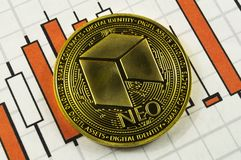 Neo is a modern way of exchange and this crypto currency. Is a convenient means of payment in the financial and web markets royalty free stock images