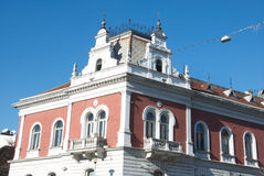 Neo-renaissance building of the Old Post Office in Zemun, Serbia. Beautiful decorated Neo-renaissance building of the Old Post Office in Zemun, Serbia. It was stock images