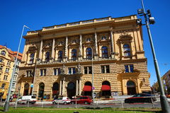 The neo-Renaissance National House of vinohrady, built in 1894, Prague 2-Vinohrady Stock Photo