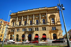 The neo-Renaissance National House of vinohrady, built in 1894, Prague 2-Vinohrady Stock Photos