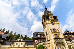 Neo-Renaissance Peles Castle Built In 1873 In Carpathian Mountains Royalty Free Stock Images