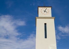 Neo Spanish Clock Tower Royalty Free Stock Images