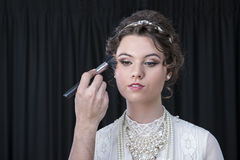 Neo-Victorian model being made up Stock Photos