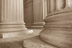 Neoclasical Columns. Neoclassical columns on base of building Stock Photography