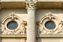 Neoclassic Architecture Detail. Close Up Royalty Free Stock Photography