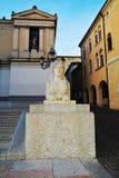 Neoclassic architecture and sculture in Conegliano Veneto, Treviso, Italy Royalty Free Stock Photos