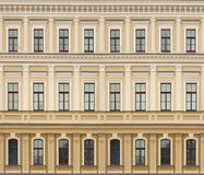 Neoclassic architecture wall with windows vintage background Royalty Free Stock Image