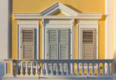 Neoclassic Balcony. Closeup on a balcony of a neoclassic building Royalty Free Stock Image
