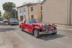 Neoclassic car Zimmer Golden Spirit (1982). Luxury neoclassic american car Zimmer Golden Spirit (1982) in Raduno auto e moto d'epoca on April 25, 2015 in Royalty Free Stock Photo